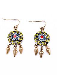 Hoop Earrings Euramerican Personalized Chrome Geometric Rainbow Jewelry For Housewarming Thank You Business 1 pair