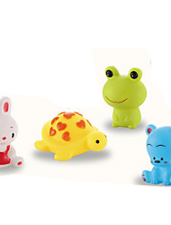 Bath Toy Model & Building Toy Rabbit Frog Bear PVC