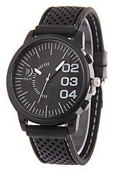 Women's Men's Unisex Fashion Watch Quartz Silicone Band Casual Black