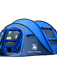 GAZELLE OUTDOORS 3-4 persons Tent Single Camping Tent Pop up tent Waterproof Windproof Ultraviolet Resistant Foldable 2000-3000 mm for