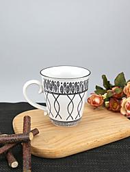 Minimalisme Soirée Articles pour boire, 250 ml Motif géométrique simple Réutilisable porcelaine Thé CaféVerres & Tasses Pour Usage