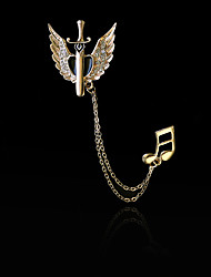Women's Boys´ Other Brooches Euramerican Hip-Hop Personalized Gold Plated Alloy Heart Wings / Feather Silver Gold Jewelry For Daily Casual