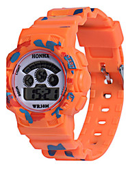 Kids' Sport Watch Digital Watch Chinese Digital Silicone Band Orange Green Yellow