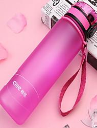 plástico 600ml movimento portátil garrafa de água chaleira