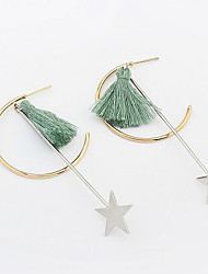 Women's Drop Earrings Tassel Euramerican Fashion Copper Star Jewelry For Party Daily
