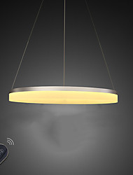 Dimmable LED Ring Acrylic Ceiling Pendant Light Indoor Chandeliers Lights Lighting 30W with Remote Control