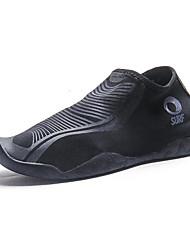 Unissex-Tênis-Solados com Luzes-Rasteiro-Preto-Neoprene-Ar-Livre Para Esporte