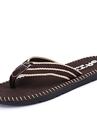 Pantoufles pour homme&Flip-flops semelles légères d'été pu casual