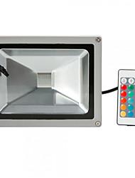Hkv® 1шт 20w 1800-2000 лм rgb водонепроницаемый фестон светодиодный прожектор встроенный светодиод ac85-265 v