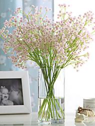 6 6 Une succursale Polyuréthane Contact réel Gypsophila Fleur de Table Fleurs artificielles