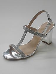 -Для женщин-Для офиса Для праздника Для вечеринки / ужина-Дерматин-На толстом каблуке-Обувь через палец клуб Обувь-Сандалии