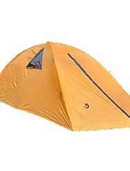 2 Pessoas Tenda Duplo Barracas de Acampar Leves Um Quarto Barraca de acampamento >3000mm Fibra de Vidro OxfordÁ Prova de Humidade Prova