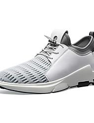 Herren-Sneakers Frühjahr Herbst Komfort Pu Tüll Outdoor Casual Rot Schwarz Weiß