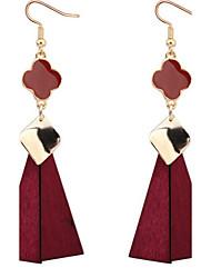 Boucles d'oreille goutte Bijoux Perle imitéeBasique Original Pendant Cœur Cercle Amitié Simple Style USA Durable British Sexy Noël