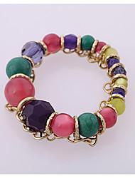Women's Strand Bracelet Jewelry Friendship Fashion Alloy Round Rainbow Jewelry For Party Birthday Valentine 1pc