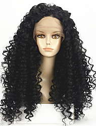 High Density Natural Black Wig Heat Resistant Synthetic Hair Wigs Curly Wigs Lace Front Wigs