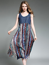 Maxlindy Women's Going out / Party/Holiday Vintage / Street chic /Loose fit Dress