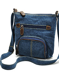 Ladies denim shoulder bag diagonal package
