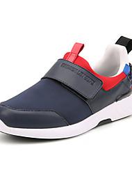 Men's Sneakers Spring Summer Fall Winter Comfort Polyester Outdoor Athletic Casual Hook & Loop Blue Gray Black Walking