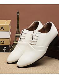 Homme oxfords printemps confort pu leatherette casual noir blanc