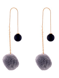 Boucles d'oreille goutte Bijoux Circulaire Original Pendant USA Bijoux Fantaisie Simple Style Molleton Alliage Forme de Cercle Bijoux Pour