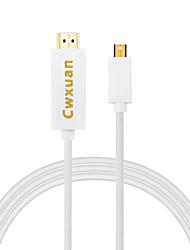 Cwxuan® mini displayport dp to hdmi 1080p hdtv adaptateur câble pour macbook