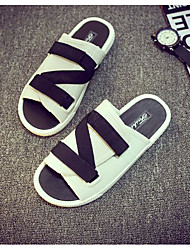 Men's Slippers & Flip-Flops Spring Comfort Tulle Casual Black White