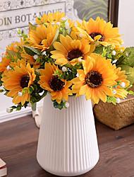 1 Филиал Шелк Подсолнухи Искусственные Цветы