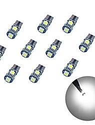 10pcs t10 расшифровывание 5 * 5050 smd chalkboard вело свет электрической лампочки dc12v электрической лампочки автомобиля