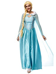 Cosplay Costumes Princess Queen Movie Cosplay Blue Dress Headwear Halloween Carnival New Year Female Terylene