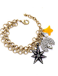 Women's Charm Bracelet Friendship Fashion Alloy Star Drop Moon Gold Jewelry For Anniversary Gift Valentine 1pc