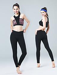 calças de yoga Meia-calça Respirável Secagem Rápida Compressão Materiais Leves Confortável Calças Push Up Natural Com ElásticoModa