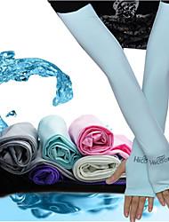 Unisexe Printemps Eté Automne Hiver Manchettes Respirable Séchage rapide Résistant aux ultraviolets Lisse Ecran Solaire Tissu de soie