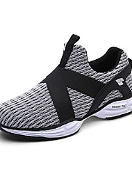 Men's Sneakers Summer Fall Comfort Light Soles Tulle Outdoor Athletic Low Heel Lace-up Blue Green Gray Running
