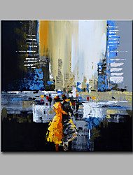 Peint à la main Paysage Carré,Moderne Un Panneau Toile Peinture à l'huile Hang-peint For Décoration d'intérieur