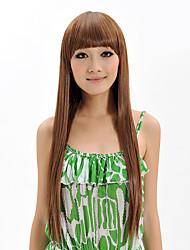 Top Quality Wig Long Straight Synthetic Wig With Neat Bangs Women Party Wigs