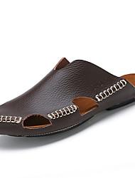 Men's Athletic Shoes Spring Fall Comfort PU Casual Flat Heel  Black White Walking