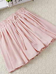 Women's Mid Rise Mini Skirts Swing Solid