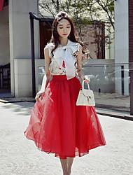 Blusa Da donna Casual Vacanze Per uscire Vintage Moda città Sofisticato Estate,Fantasia floreale Colletto alla coreana Poliestere Elastene
