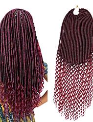 Crochê Tranças Curly Extensões de cabelo Tranças de cabelo