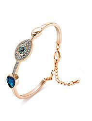 Femme Bracelets Rigides Cristal Naturel Amitié Bohême Thérapie Magnétique Bijoux Movie Mode Argent sterling Cristal Forme de Cercle Bijoux