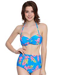 Bikinis Aux femmes Bohème Bandeau Nylon Spandex