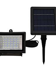 1pcs 30led солнечный прожектор теплый прохладный белый цвет ip65 водонепроницаемый наружного сада освещения безопасности прожекторы