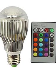 9W E27 Lampadine globo LED A60(A19) 1 Illuminazione LED integrata 800 lm Colori primariIntensità regolabile Controllo a distanza