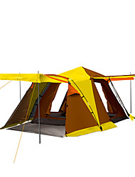 3-4 persons Tent Double Fold Tent One Room Camping Tent 2000-3000 mm Fiberglass OxfordMoistureproof/Moisture Permeability Waterproof