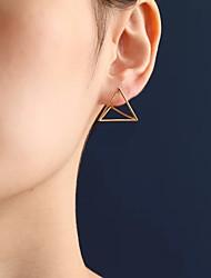 Mulheres Brincos Curtos bijuterias Moda Euramerican Liga Forma Geométrica Triangular Jóias Para Diário