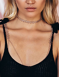Women's Body Jewelry Body Chain Handmade Fashion Punk Alloy Geometric Gold Jewelry For Casual Sports 1 pcs