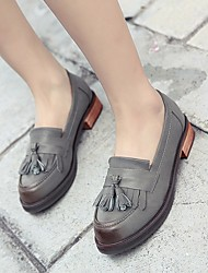 Для женщин Ботинки С Т-образной перепонкой Резина Лето Повседневные Серый На плоской подошве