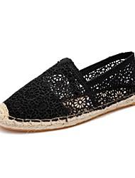 Damen-Loafers & Slip-Ons-Lässig-Stoff-Flacher Absatz-Mokassin-Schwarz Beige Grau Pink