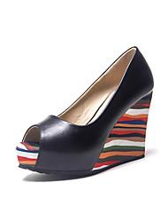 Damen-High Heels-Lässig-PU-Keilabsatz-Creepers-